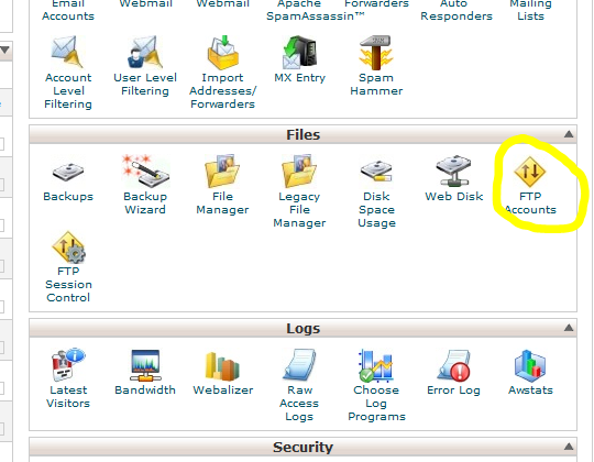 steps to create FTP accounts from cpanel www.globalhosting247.com