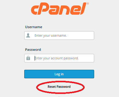 How to reset cpanel password yourself